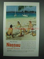 1958 Nassau and The Bahamas Tourism Ad - Gay and Sunny