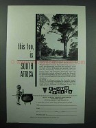 1958 South Africa Tourism Ad - Tzitzikama Forest