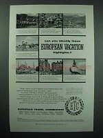 1958 European Travel Commission Tourism Ad - Highlights