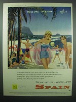 1958 Spain Tourism Ad - Welcome to Spain