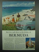 1957 Bermuda Tourism Ad - Soft Skies Smile Down On