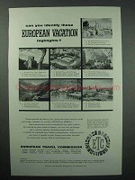 1957 European Travel Commission Tourism Ad - Highlights