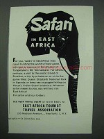 1957 East Africa Tourism Ad - Safari