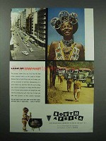 1956 South Africa Tourism Ad - Land of Contrast