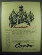 1956 Ceylon Tourism Ad - Enchantment