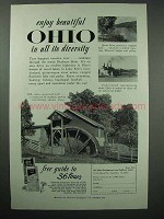 1955 Ohio Tourism Ad - Enjoy in All Its Diversity
