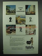 1955 South Africa Tourism Ad - Land of Contrast