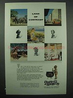 1955 South Africa Tourism Advertisement - Land of Contrast