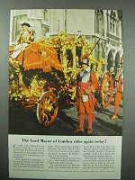 1955 Britain Tourism Ad - Lord Mayor of London Rides