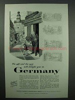 1955 Germany Tourism Ad - The Old and New Will Delight