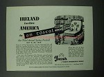 1955 Ireland Tourism Ad - Invites America to An Tostal