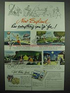 1954 New England Tourism Ad - Everything You Go For