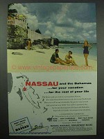 1954 Nassau and the Bahamas Tourism Ad - Vacation