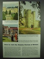 1954 Britain Tourism Ad - Warwick Castle