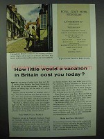 1954 Britain Tourism Ad - How Little Vacation Cost