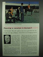 1954 Britain Tourism Ad - Sir Alexander Maxwell