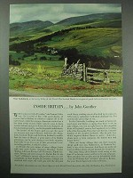 1954 Britain Tourism Ad - Inside Britain, John Gunther