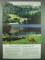 1954 Britain Tourism Ad - Write a Poem Here