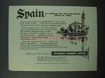 1954 Spain Tourism Ad - Exciting Haven For You