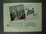 1954 Italy Tourism Ad - See Italy First - Naples