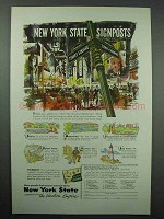 1953 New York Tourism Ad - State Signposts