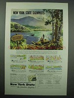 1953 New York Tourism Ad - Adirondack Mountains