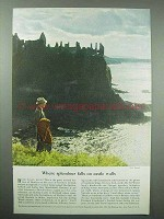 1953 Britain Tourism Ad, Splendour Falls Castle Walls