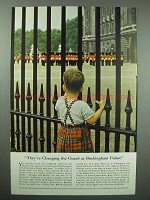 1953 Britain Tourism Ad - Changing Guard Buckingham