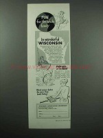 1952 Wisconsin Tourism Ad - Fun For Whole Family