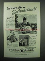 1951 Switzerland Tourism Advertisement