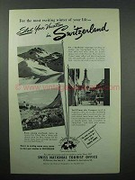 1950 Switzerland Tourism Ad - Start Your Vacation