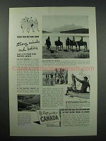 1942 Canada Tourism Ad - Strong Minds and Bodies