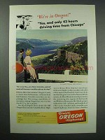 1941 Oregon Tourism Ad - Columbia River Highway
