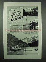1941 Alaska Tourism Ad - Scenic Interlude