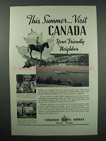 1936 Canada Tourism Ad - This Summer Visit