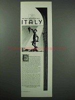 1931 Italy Tourism Ad - You Can't Afford To Miss
