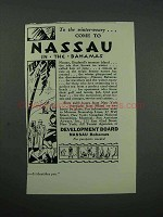 1931 Nassau and the Bahamas Tourism Ad - Winter-Weary
