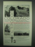 1930 Colorado Tourism Ad - Chicago Basin