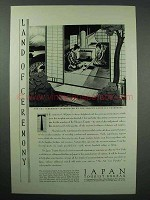1930 Japan Tourism Ad - The Tea Ceremony