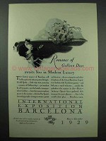 1929 International Exposition Barcelona Spain Ad - Romance of Galleon Days