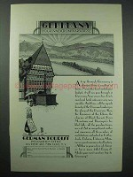 1929 Germany Tourism Ad - Your Vacation Paradise