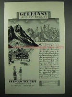 1929 Germany Tourism Ad - Land of Beauty
