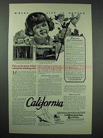 1927 California Tourism Ad - Where Life Is Better