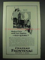 1926 Quebec Canada Tourism Ad - Chateau Frontenac
