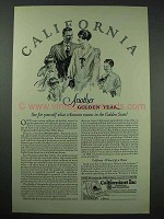 1926 California Tourism Ad - Another Golden Year