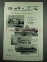 1925 Miami Beach Florida Tourism Ad - Flamingo, Lincoln