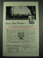 1925 Southern California Tourism Ad - This Winter