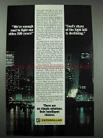 1978 Caterpillar Ad - Coal to Light Cities 200 Years