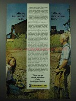 1976 Caterpillar Ad - Mining Land, Enriches Lives