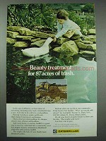 1972 Caterpillar Ad - Beauty Treatment for Trash